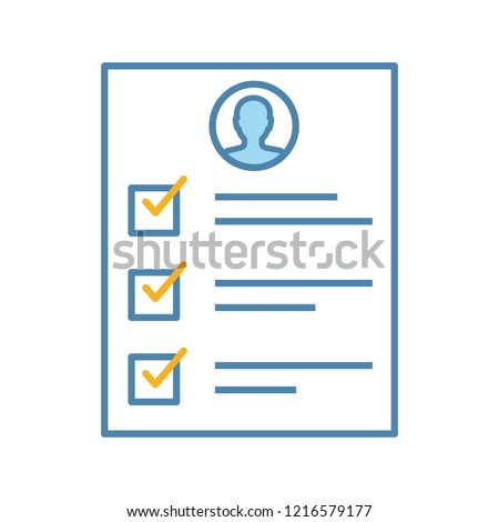 Service Quality Control Survey Color Icon Feedback And Review User Customer Questionnaire Checklist Resume CV Questions Personal