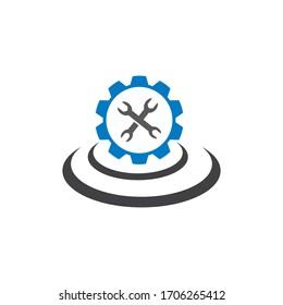 service repair logo vector illustration design