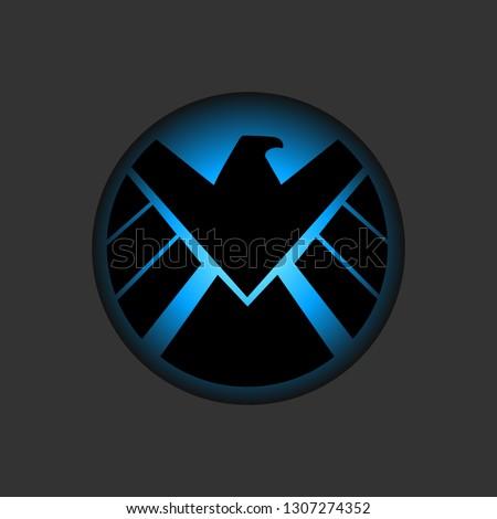 Service shield emblem Marvel