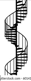 service spiral stair on a white background