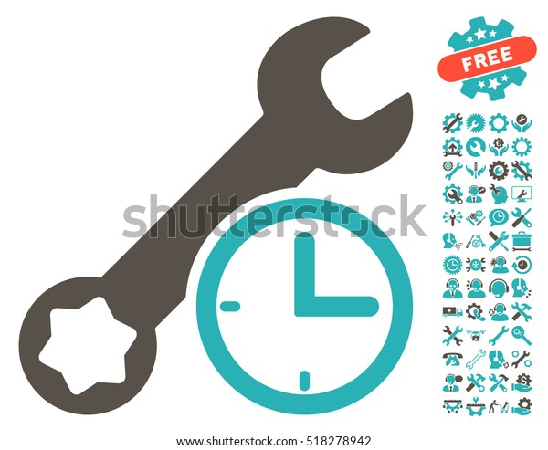 Service Time Pictograph Bonus Configuration Clip Stock