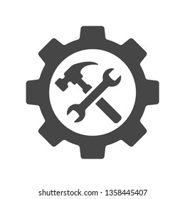 Service tools icon on white background. Vector illustration.