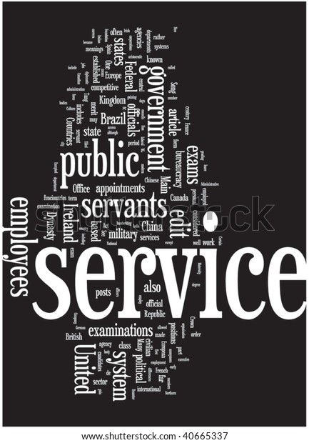 Service Word Cloud Illustration Graphic Tag Stock Vector