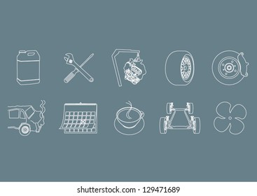 Services icons or symbols