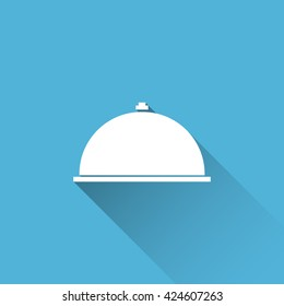 serving dish icon. flat serving dish icon. serving dish vector
