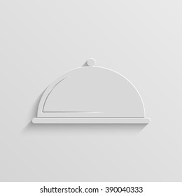 serving food paper vector icon