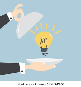 Serving idea light bulb