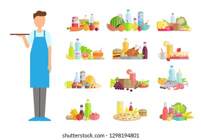 a4b5d62c5b33c Artist Beret Easel Brushes Chiefcooker Apron Stock Vector (Royalty ...