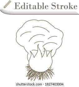 Sesonal Grass Burning Icon. Editable Stroke Simple Design. Vector Illustration.
