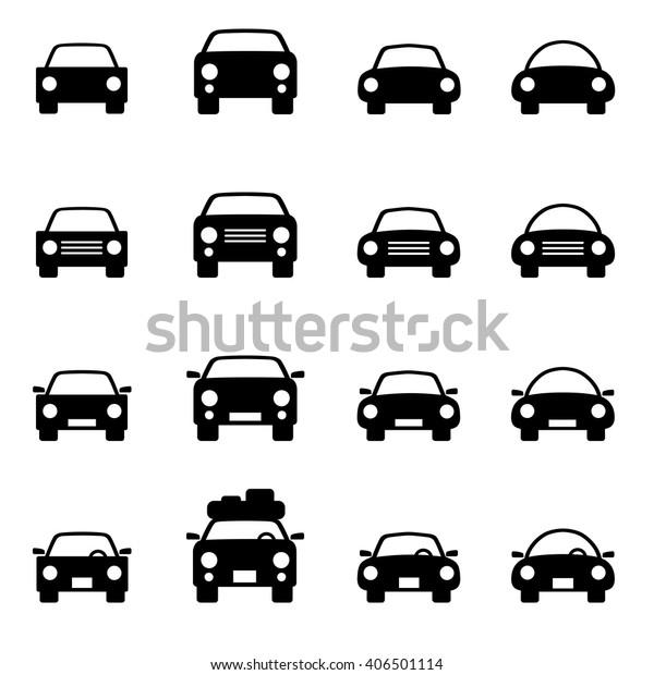Set 1 Icons Representing Car Vector Stock Vector (Royalty
