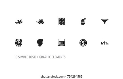 Set Of 10 Editable Kin Icons. Includes Symbols Such As Sparrow, Grandpa , Greenback. Can Be Used For Web, Mobile, UI And Infographic Design.