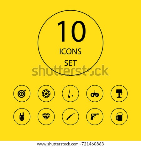 7c6eef3bbd29 Set 10 Lifestyle Icons Set Collection Backpack Stock Vector (Royalty ...