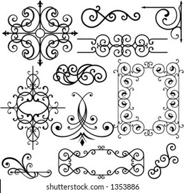 A set of 11 exquisitive and very clean ornamental designs.
