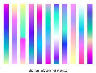 Set of 11 rectangle gradation pattern for design