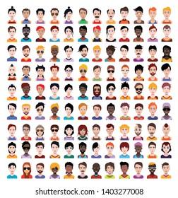 Set of 110 High quality avatar