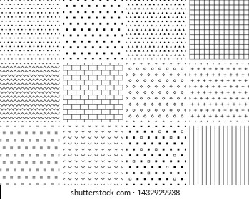 Set of 12 minimalist seamless patterns