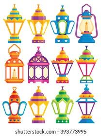 Set of 12 Ramadan Lanterns