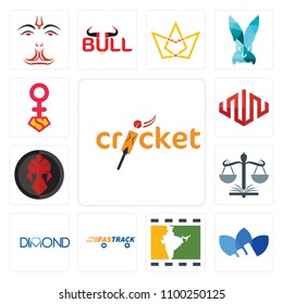 Set Of 13 simple editable icons such as cricket, adidas, bollywood, fastrack,