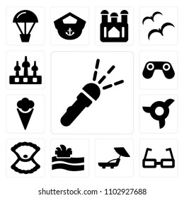 3a4498065a8 Set Of 13 simple editable icons such as Flashlight