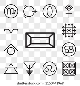 Set Of 13 transparent editable icons such as Gold, Year, Leo, Soapstone, Air, Cancer, Zinc, Precipitation, web ui icon pack, transparency set