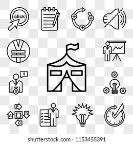 Set Of 13 transparent editable icons such as military base, realtime, lumen, roles and responsibilities, pdca, proactive, cfo, expo, rmb, web ui icon pack, transparency set