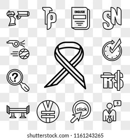 Set Of 13 transparent editable icons such as multiple sclerosis, cfo, click me, rmb, spoiler, saudi riyal, problem statement, realtime, kickoff, web ui icon pack, transparency set