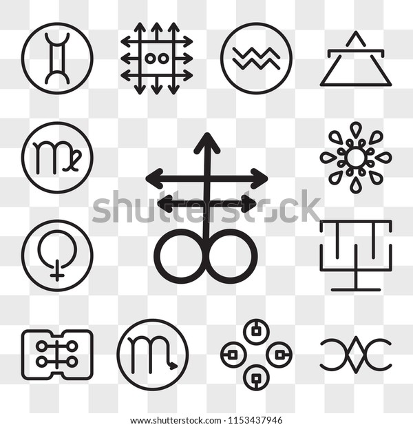 Set 13 Transparent Editable Icons Such Stock Vector (Royalty Free