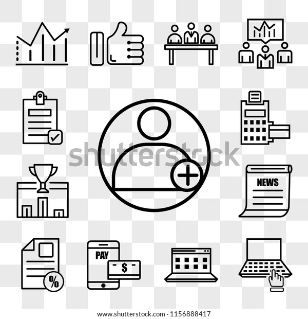 Set 13 Transparent Editable Icons Such Stock Vector (Royalty