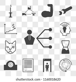 Set Of 13 transparent icons such as third party, torque, quarantine, expiration date, parking meter, siamese cat, capability, web ui editable icon pack, transparency set