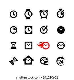 Set 16 clock icons