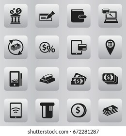 Set Of 16 Editable Investment Icons. Includes Symbols Such As Library, Remuneration, Investment And More. Can Be Used For Web, Mobile, UI And Infographic Design.