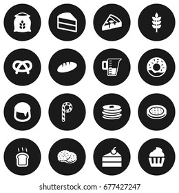Set Of 16 Food Icons Set.Collection Of Slice Bread, Sack, Grain And Other Elements.