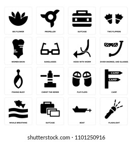 937842244d2 Set Of 16 icons such as Flashlight