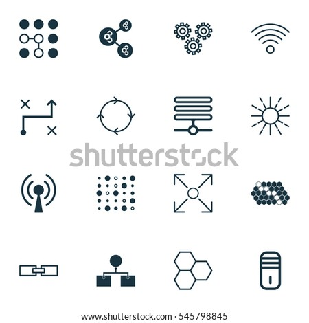 Set 16 Robotics Icons Includes Algorithm Stock Vector Royalty Free