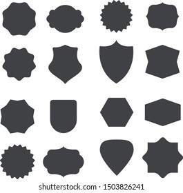 Set of 16 Shapes,Badges for any creation , Decoration, Elements, Graphics, Vintage, Illustration