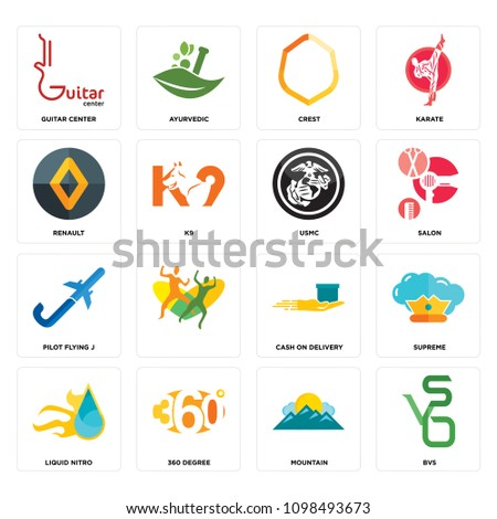 Set 16 Simple Editable Icons Such Stock Vector Royalty Free