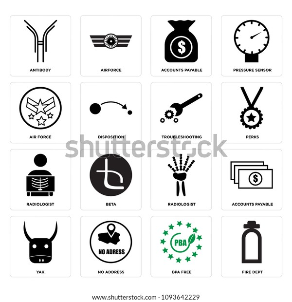Set 16 Simple Editable Icons Such Stock Vector (Royalty Free