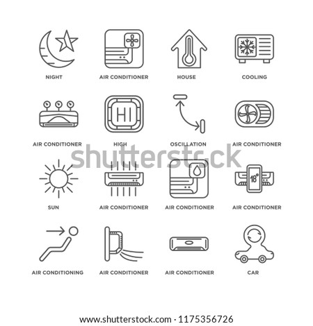 d51508504a28c Set 16 Simple Line Icons Such Stock Vector (Royalty Free) 1175356726 ...