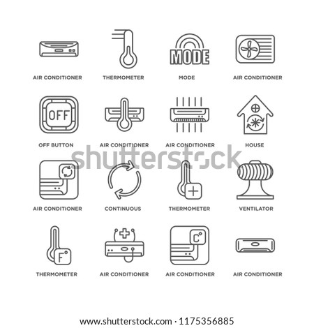 c9d69dac671e7 Set 16 Simple Line Icons Such Stock Vector (Royalty Free) 1175356885 ...
