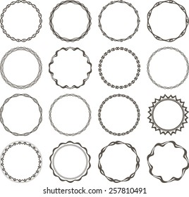 Set of 16 simple round frames.