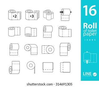 Set of 16 Toilet Paper