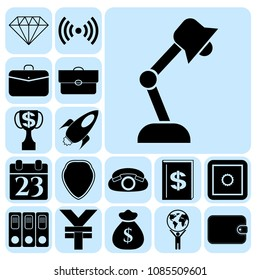 Set of 17 business icons. Collection. Detailed design. Vector Illustration.