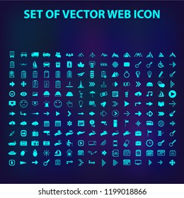 Set of 180 universal modern thin line icons for web and mobile