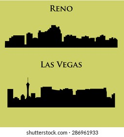 Set of 2 City in Nevada ( Las Vegas, Reno )