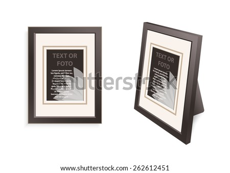 Set 2 Dark Brown Frames On Stock Vector Royalty Free 262612451