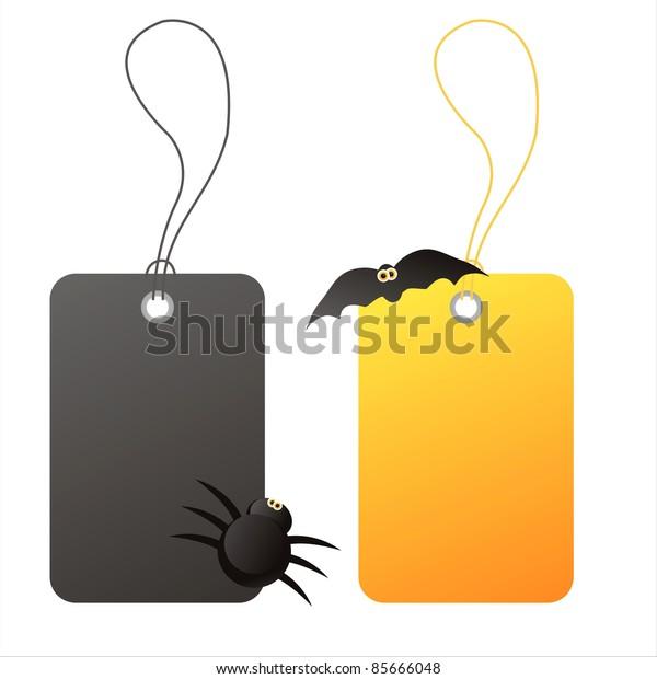 set of 2 halloween sale tags