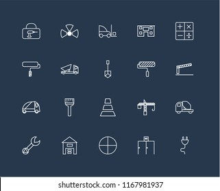 Set 20 Linear Icons Such Plug Stock Vector (Royalty Free) 1167981934