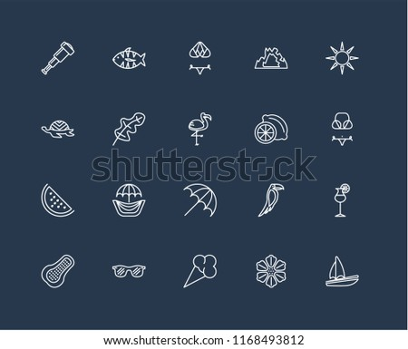a3f23cc1f7fd Set 20 Black Linear Icons Such Stock Vector (Royalty Free ...