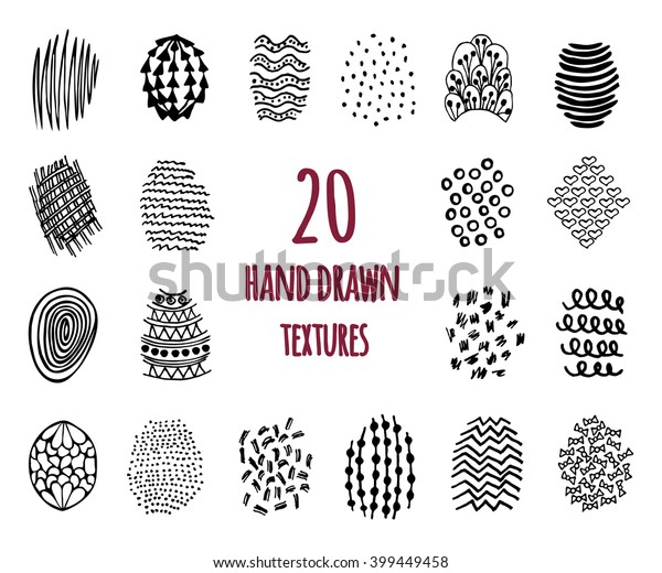 Set 20 Hand Drawn Textures Design Stock Vector Royalty Free 399449458,Aashto Roadside Design Guide Clear Zone