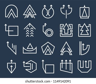 Set Of 20 icons such as Up arrow, web UI editable icon pack, pixel perfect